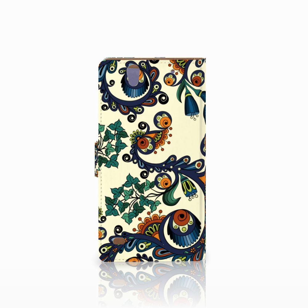 Wallet Case Sony Xperia C4 Barok Flower