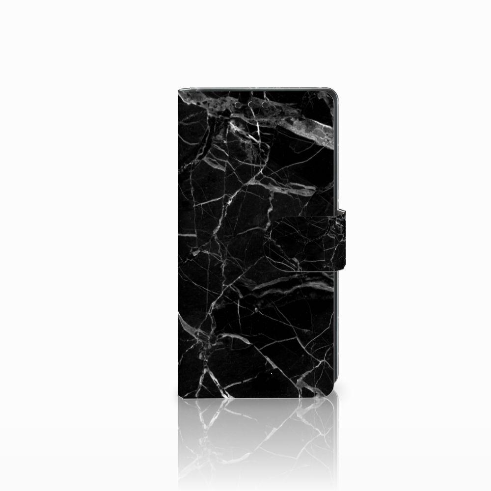 Sony Xperia XA1 Uniek Boekhoesje Marmer Zwart