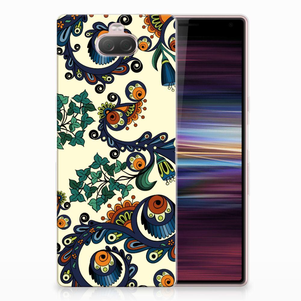 Siliconen Hoesje Sony Xperia 10 Barok Flower