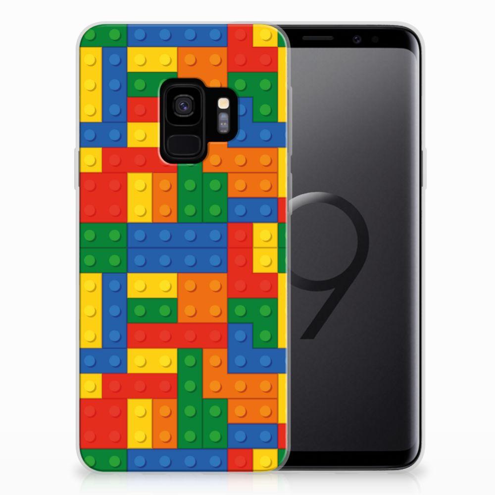 Uniek TPU Hoesje Blokken Samsung Galaxy S9