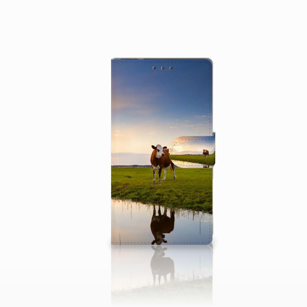 Samsung Galaxy Note 4 Boekhoesje Design Koe