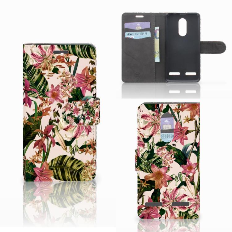 Lenovo K6 Hoesje Flowers
