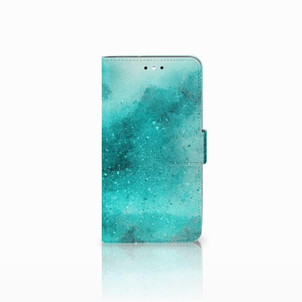 Motorola Moto G4 | G4 Plus Uniek Boekhoesje Painting Blue