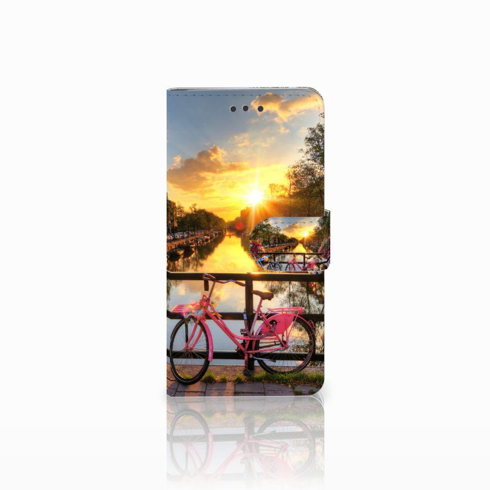 HTC U Play Uniek Boekhoesje Amsterdamse Grachten
