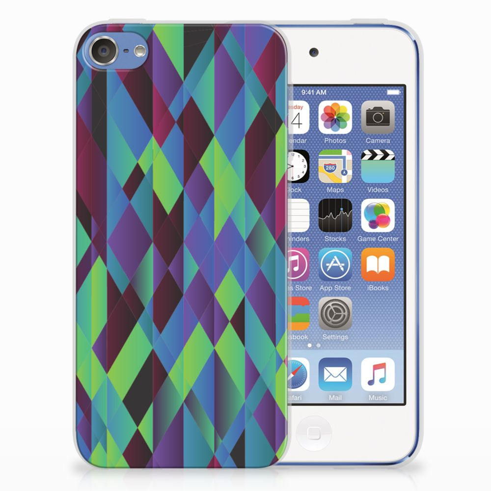 Apple iPod Touch 5 | 6 TPU Hoesje Abstract Green Blue