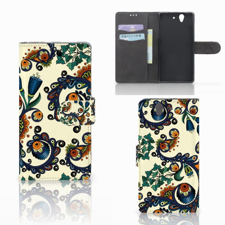Wallet Case Sony Xperia Z Barok Flower