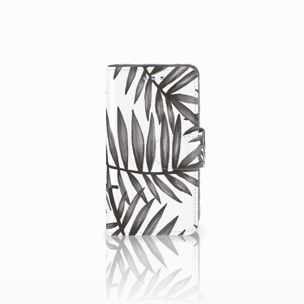 Samsung Galaxy S3 Mini Uniek Boekhoesje Leaves Grey
