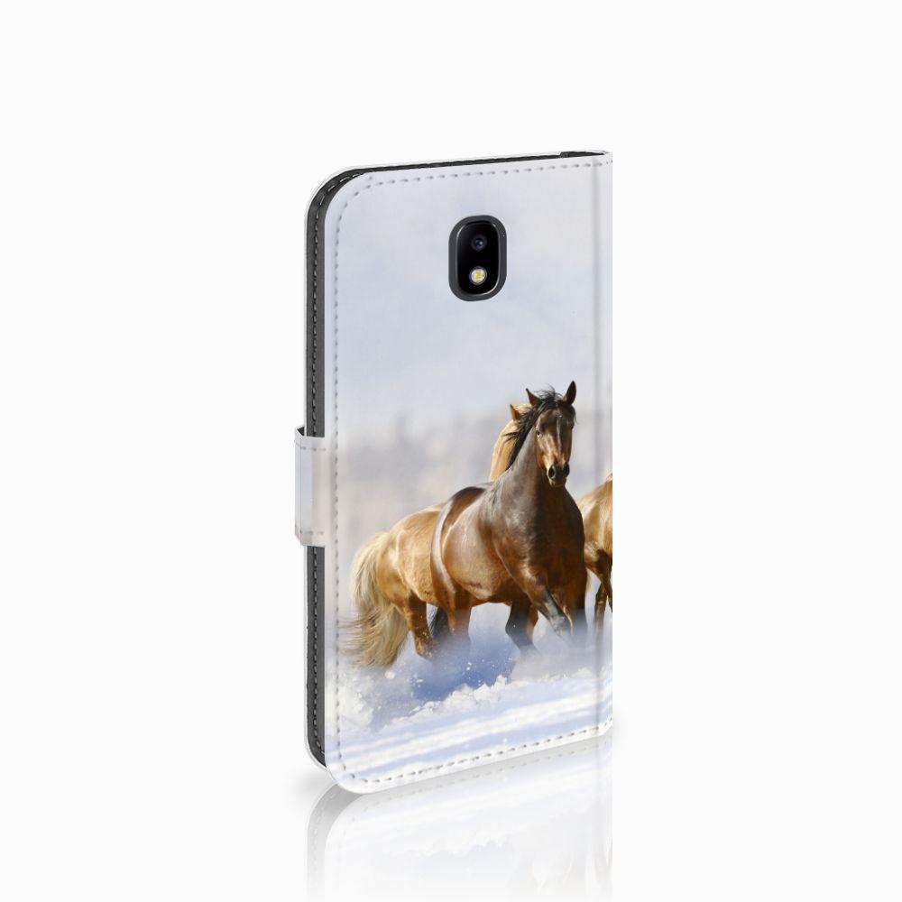 Samsung Galaxy J5 2017 Uniek Boekhoesje Paarden