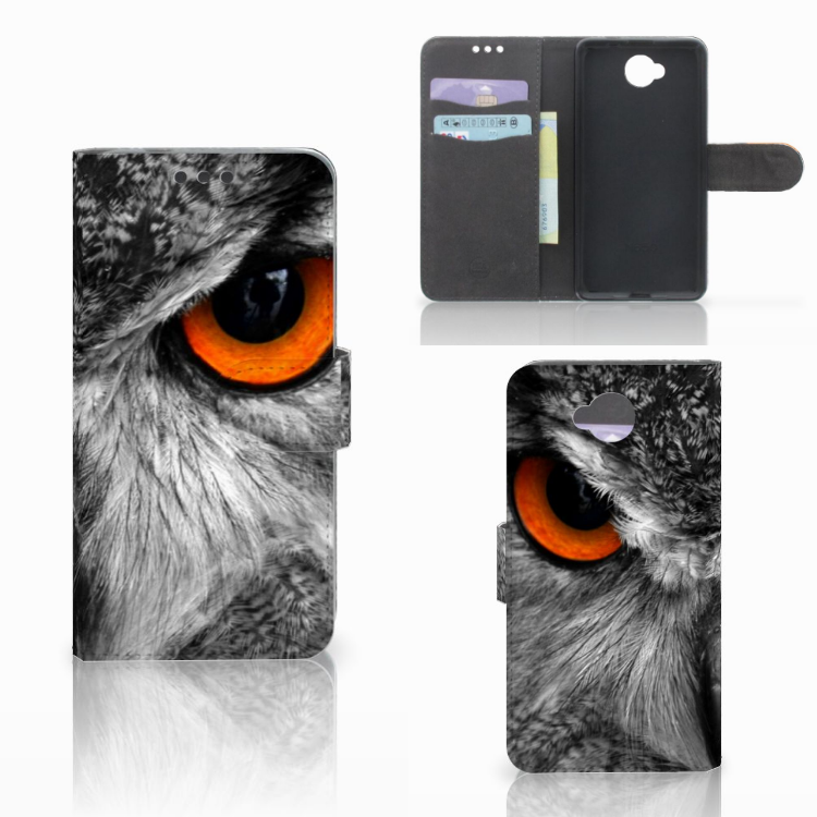 Microsoft Lumia 650 Telefoonhoesje met Pasjes Uil