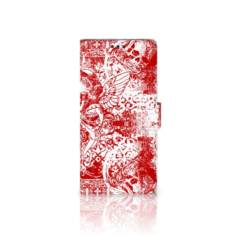 Sony Xperia XA Ultra Boekhoesje Design Angel Skull Red