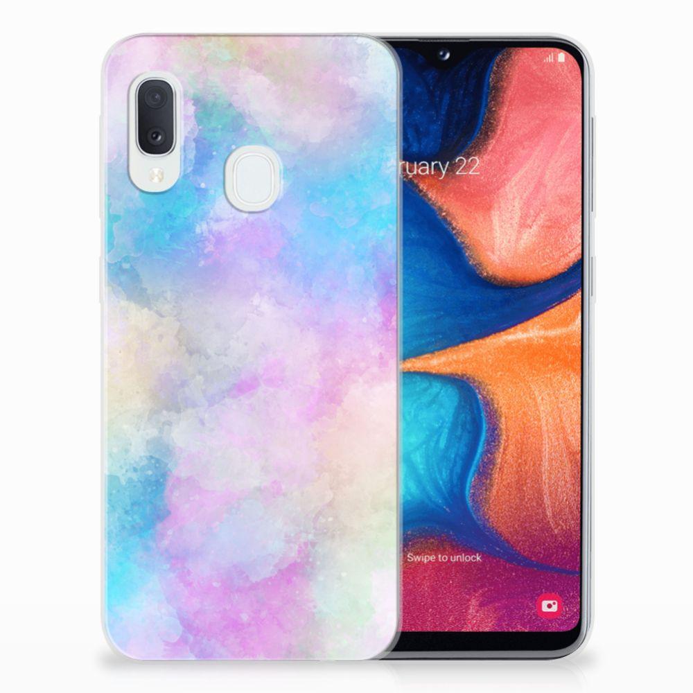 Hoesje maken Samsung Galaxy A20e Watercolor Light