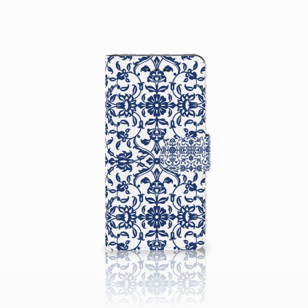 Huawei Y3 2017 Uniek Boekhoesje Flower Blue