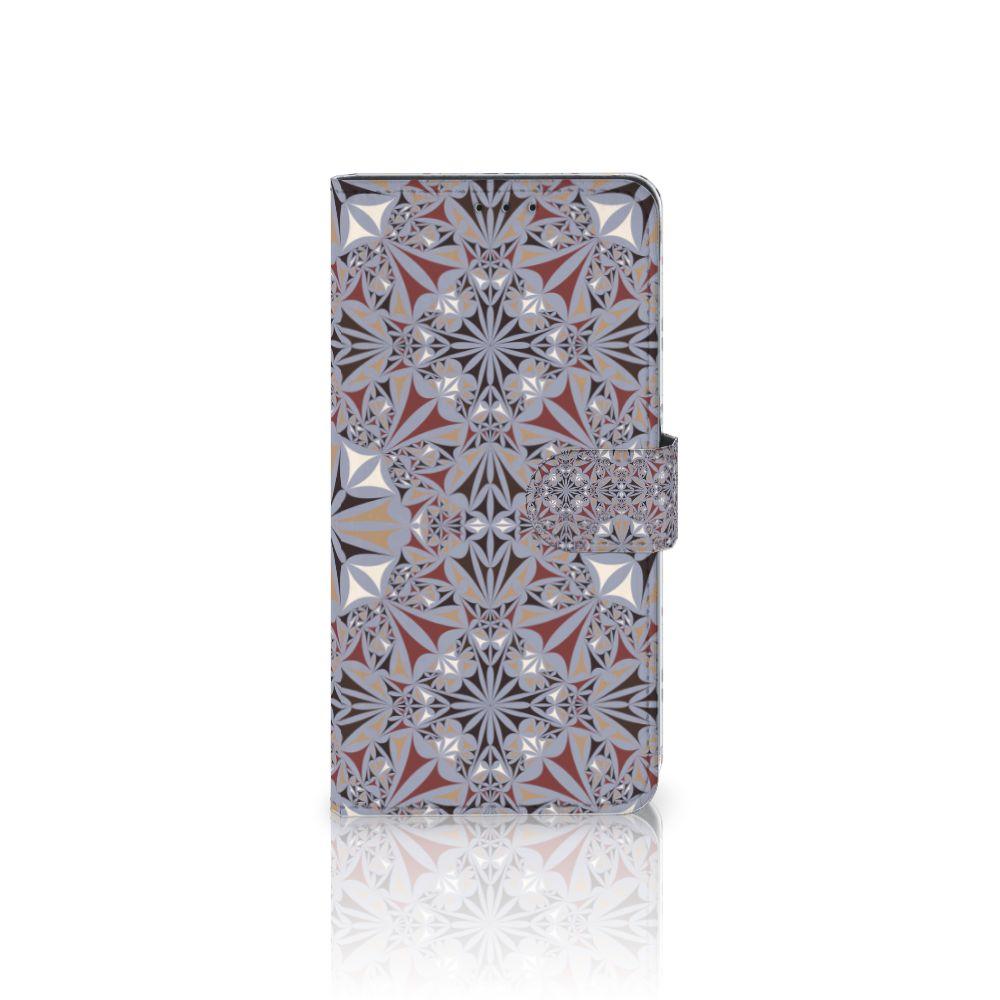 Samsung Galaxy A8 Plus (2018) Boekhoesje Design Flower Tiles