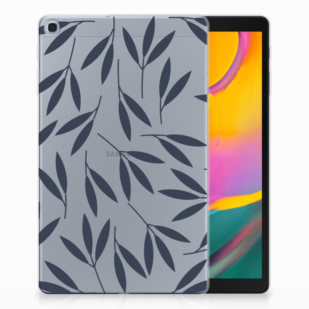 Samsung Galaxy Tab A 10.1 (2019) Tablethoesje Design Leaves Blue