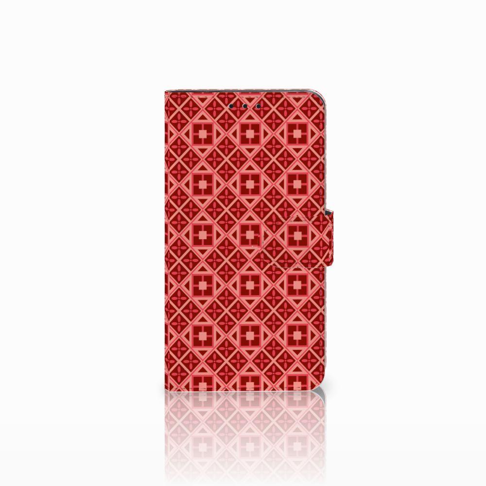 Huawei Honor 6X Uniek Boekhoesje Batik Red