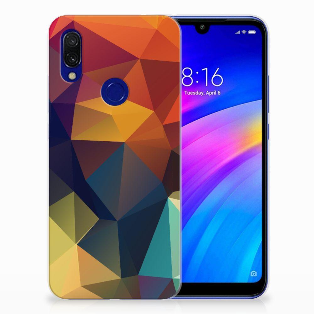 Xiaomi Redmi 7 TPU Hoesje Polygon Color