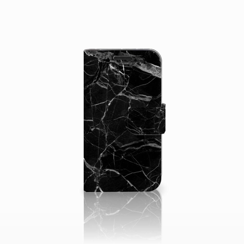 LG K4 Uniek Boekhoesje Marmer Zwart