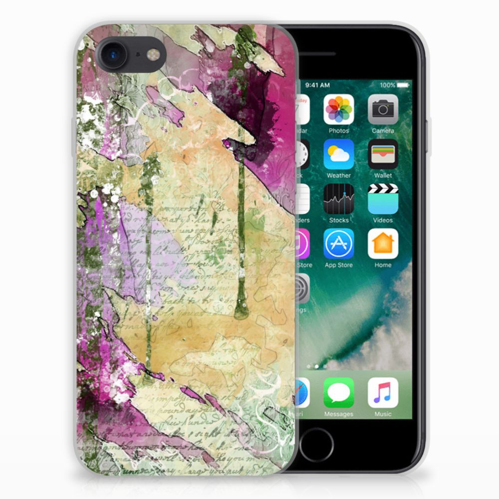Hoesje maken Apple iPhone 7 | 8 Letter Painting
