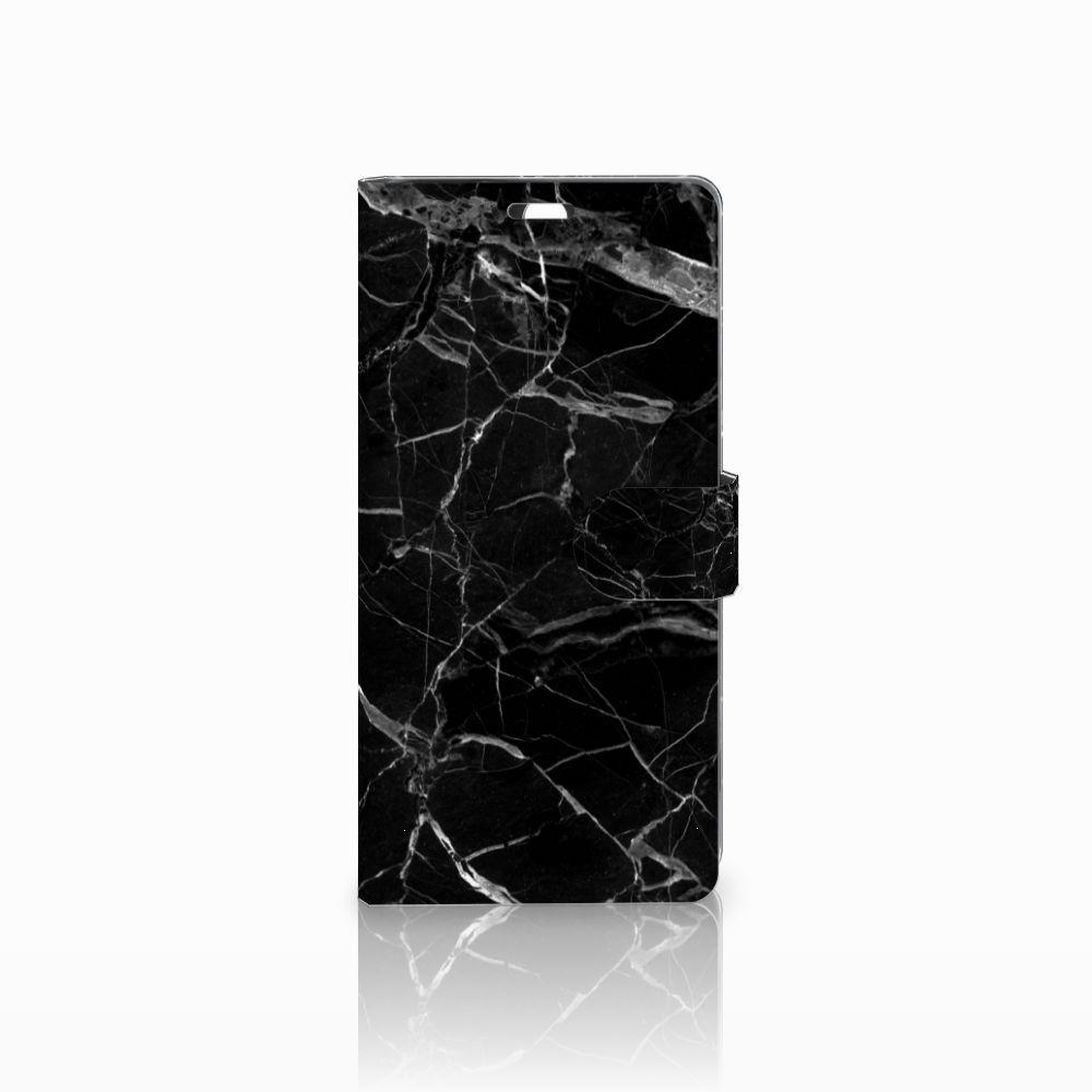 Sony Xperia C5 Ultra Uniek Boekhoesje Marmer Zwart