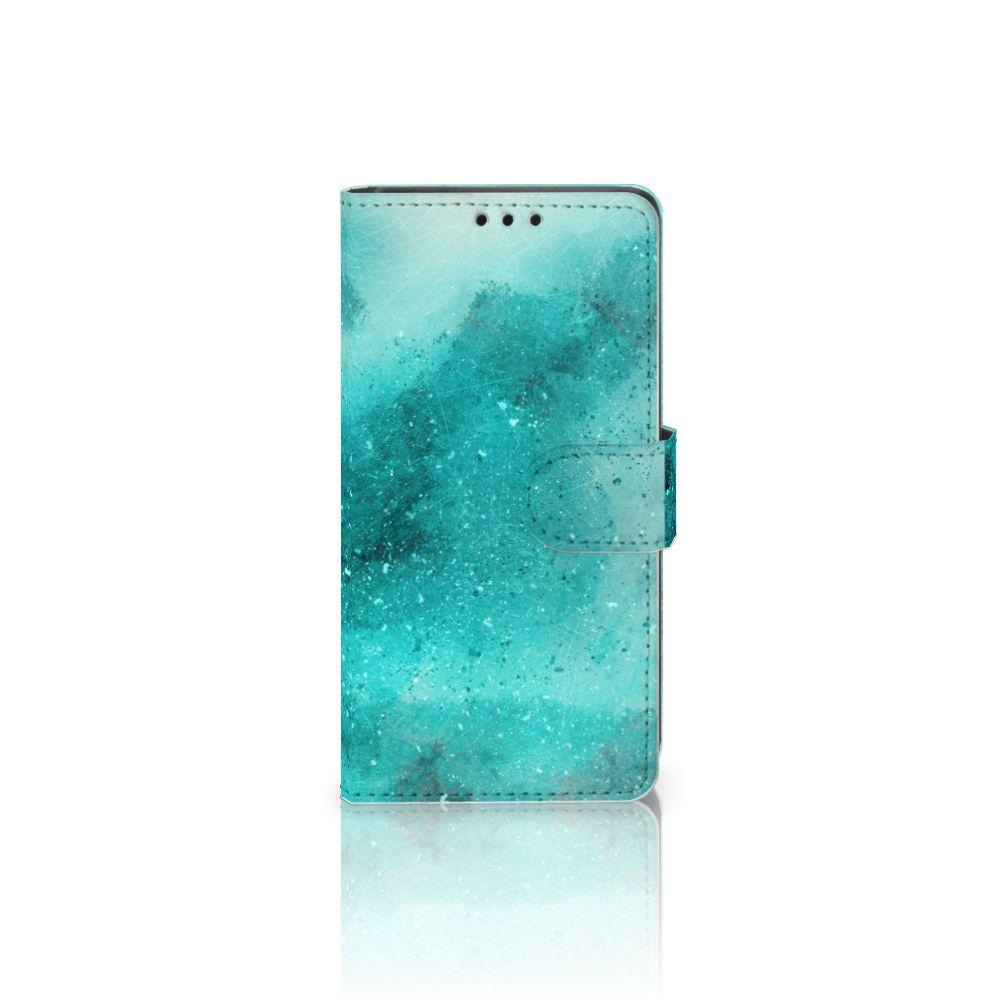 Sony Xperia Z5   Z5 Dual Uniek Boekhoesje Painting Blue