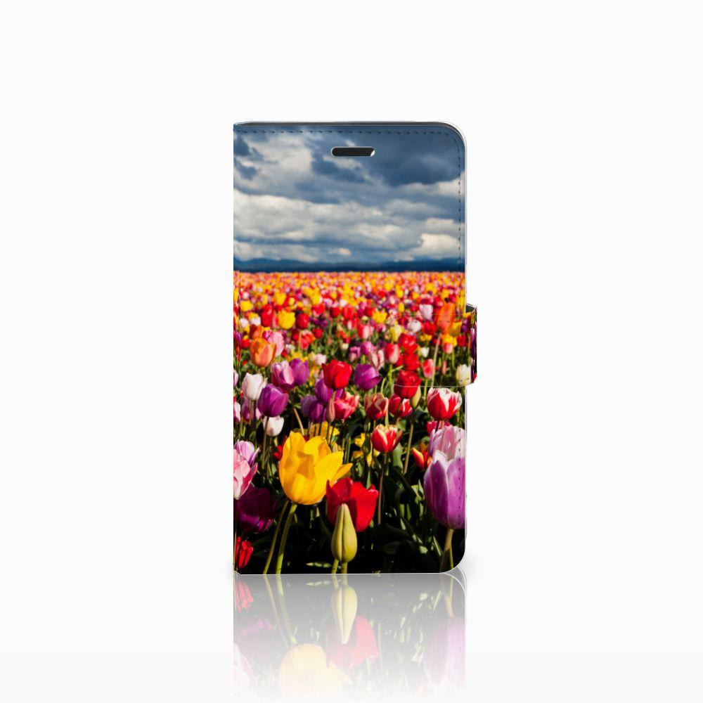 Wiko Pulp Fab 4G Uniek Boekhoesje Tulpen