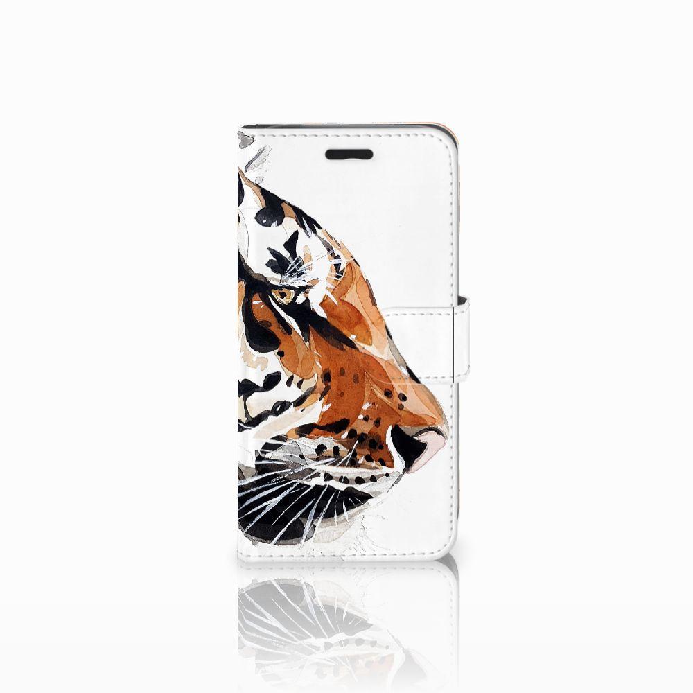 Acer Liquid Z530   Z530s Uniek Boekhoesje Watercolor Tiger