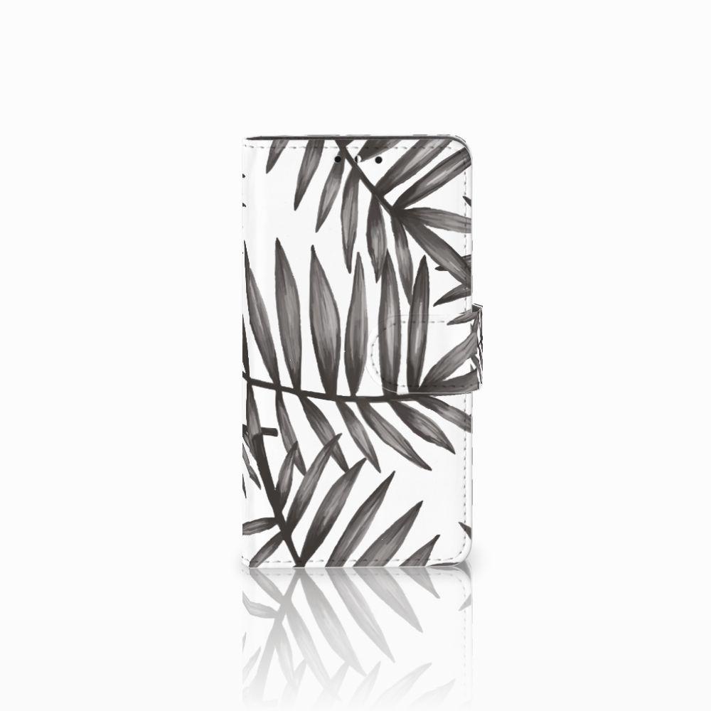 Huawei Y5 | Y6 2017 Uniek Boekhoesje Leaves Grey