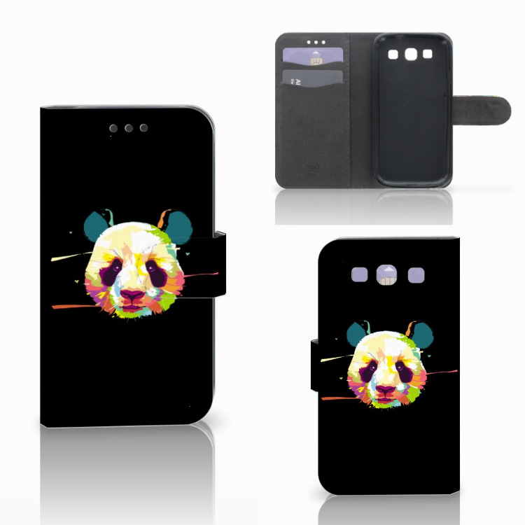 Samsung Galaxy S3 i9300 Leuke Hoesje Panda Color