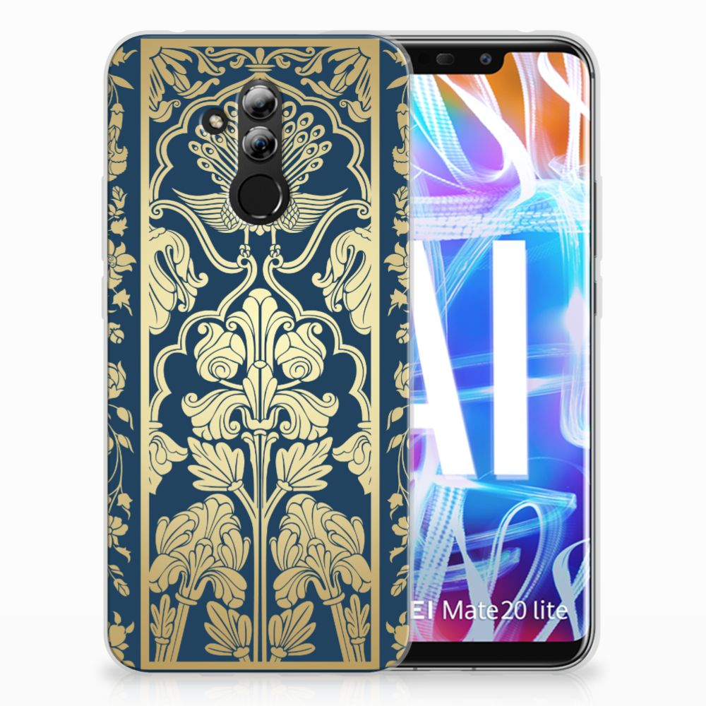 Huawei Mate 20 Lite TPU Case Golden Flowers