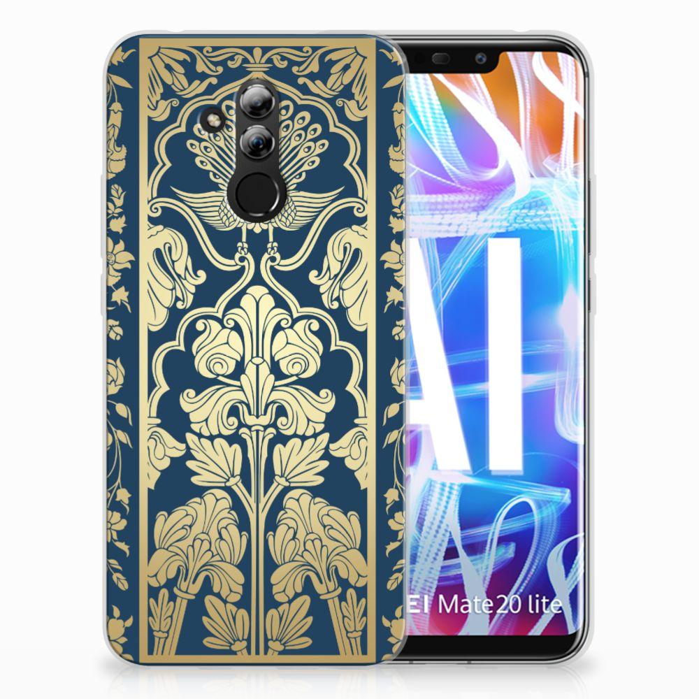 Huawei Mate 20 Lite TPU Hoesje Golden Flowers