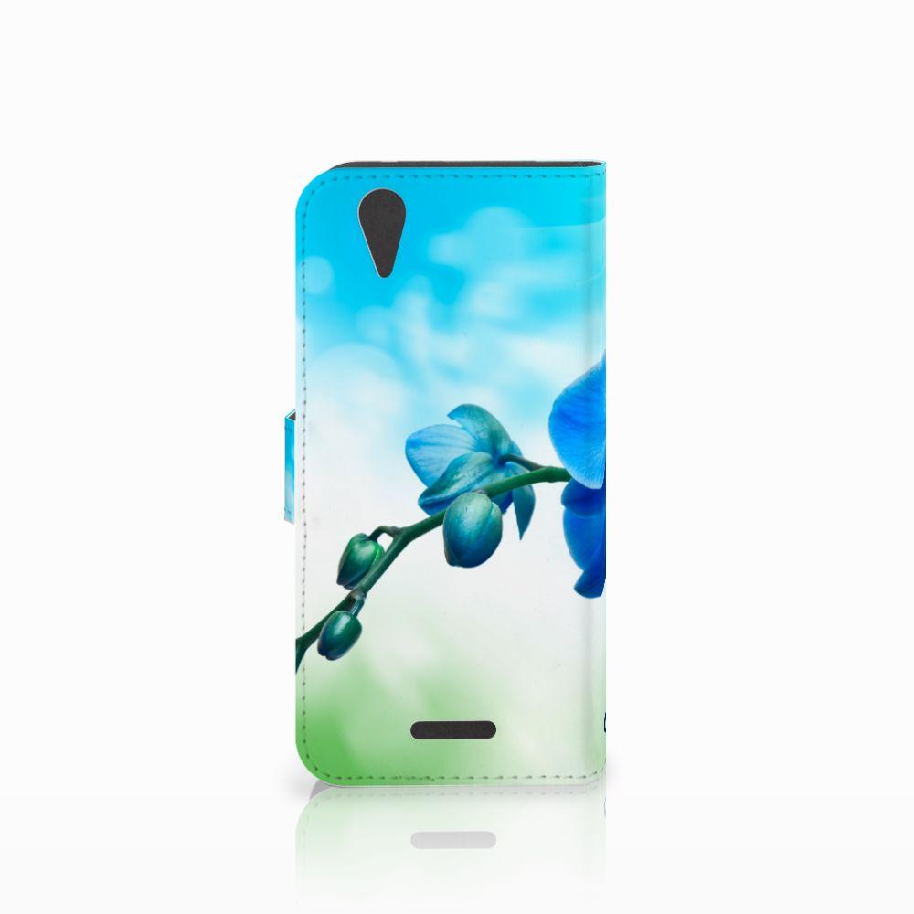 Acer Liquid Z630   Z630s Hoesje Orchidee Blauw