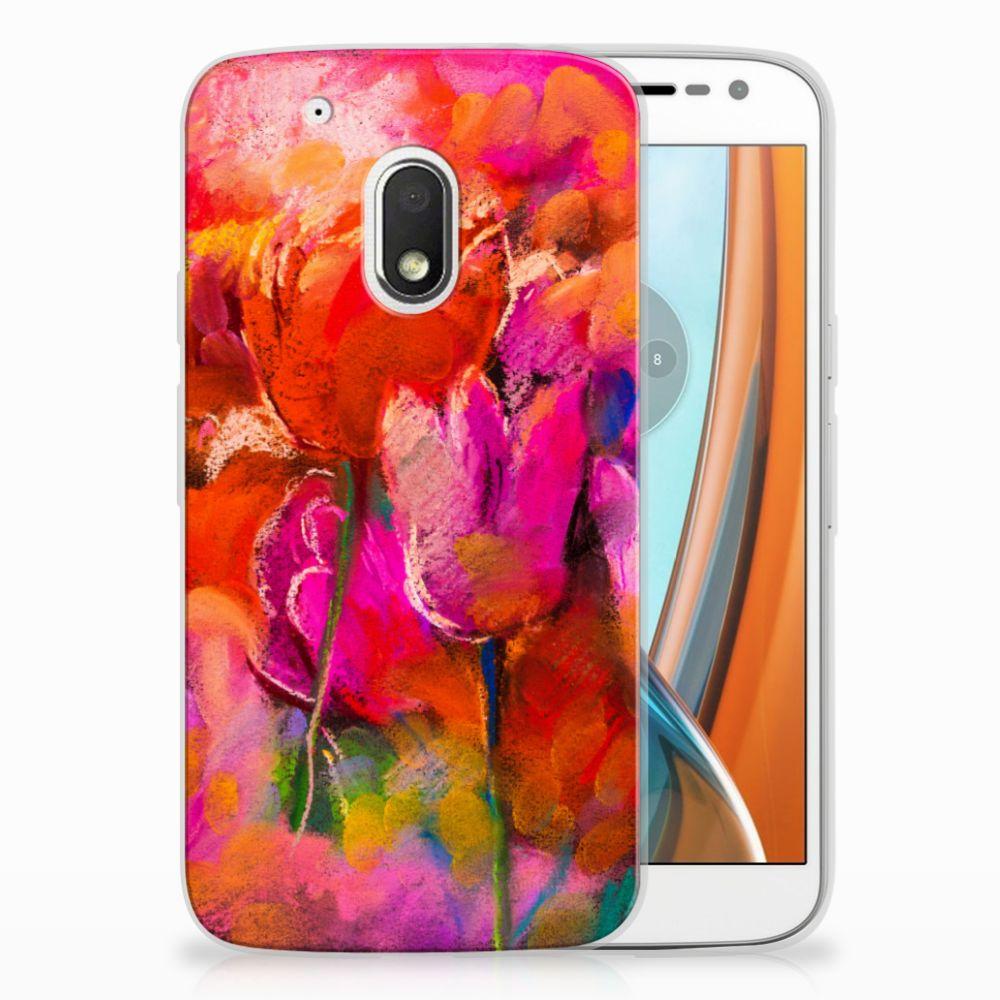 Motorola Moto G4 Play TPU Hoesje Design Tulips