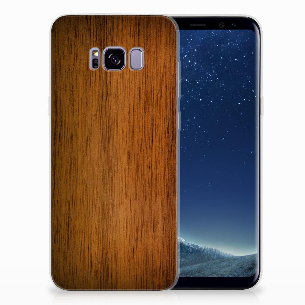 Samsung Galaxy S8 Plus Uniek TPU Hoesje Donker Hout