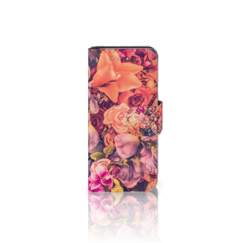 Samsung Galaxy S4 Mini i9190 Boekhoesje Design Bosje Bloemen