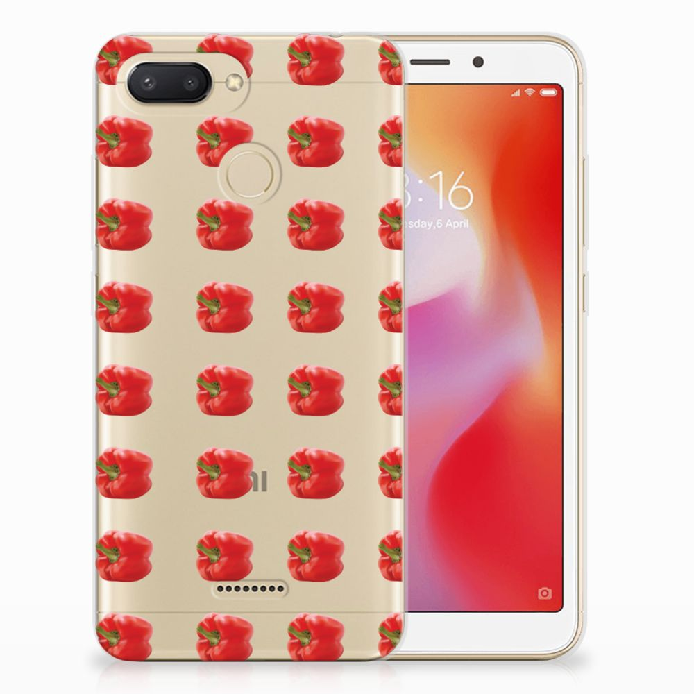 Xiaomi Redmi 6 Siliconen Case Paprika Red