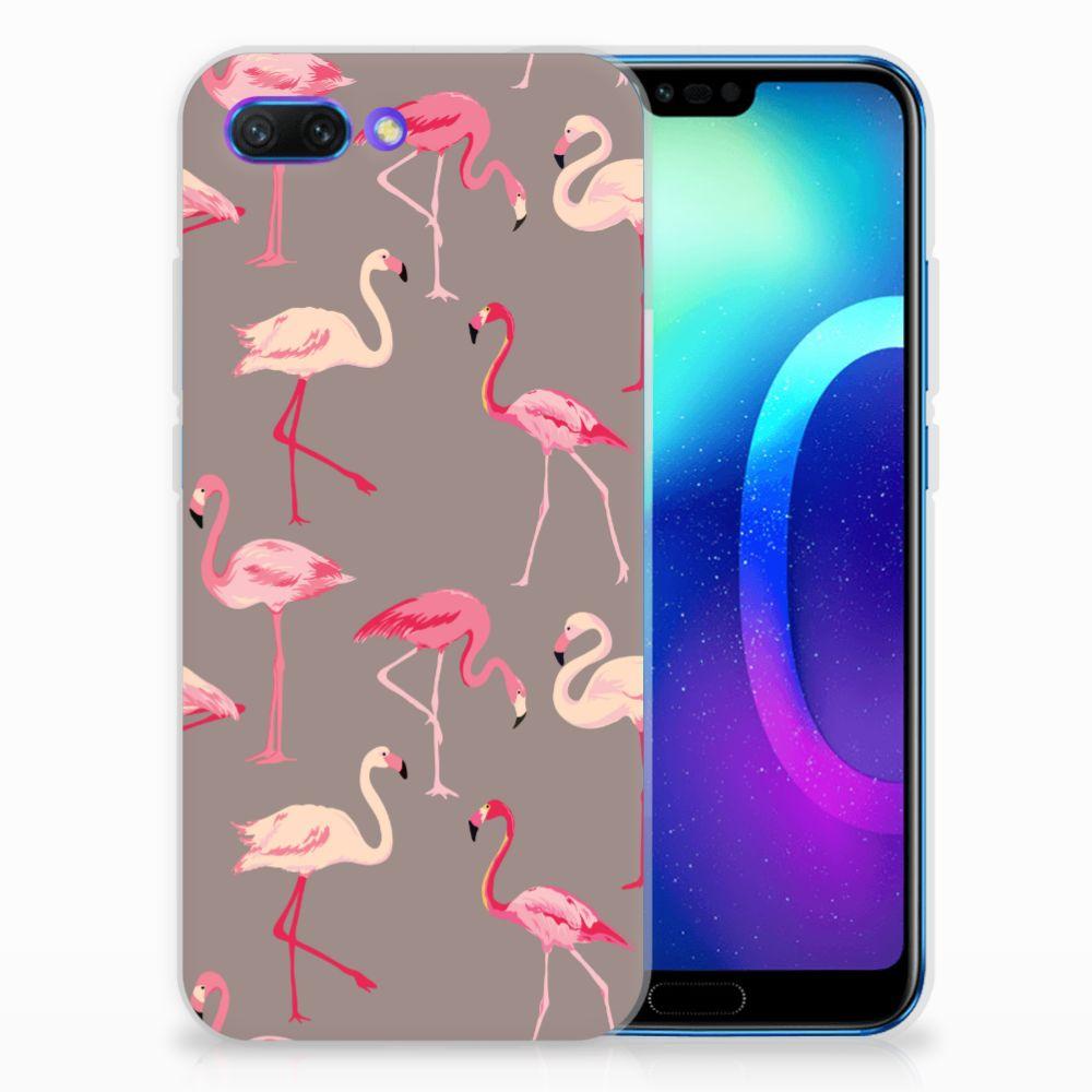 Huawei Honor 10 Uniek TPU Hoesje Flamingo