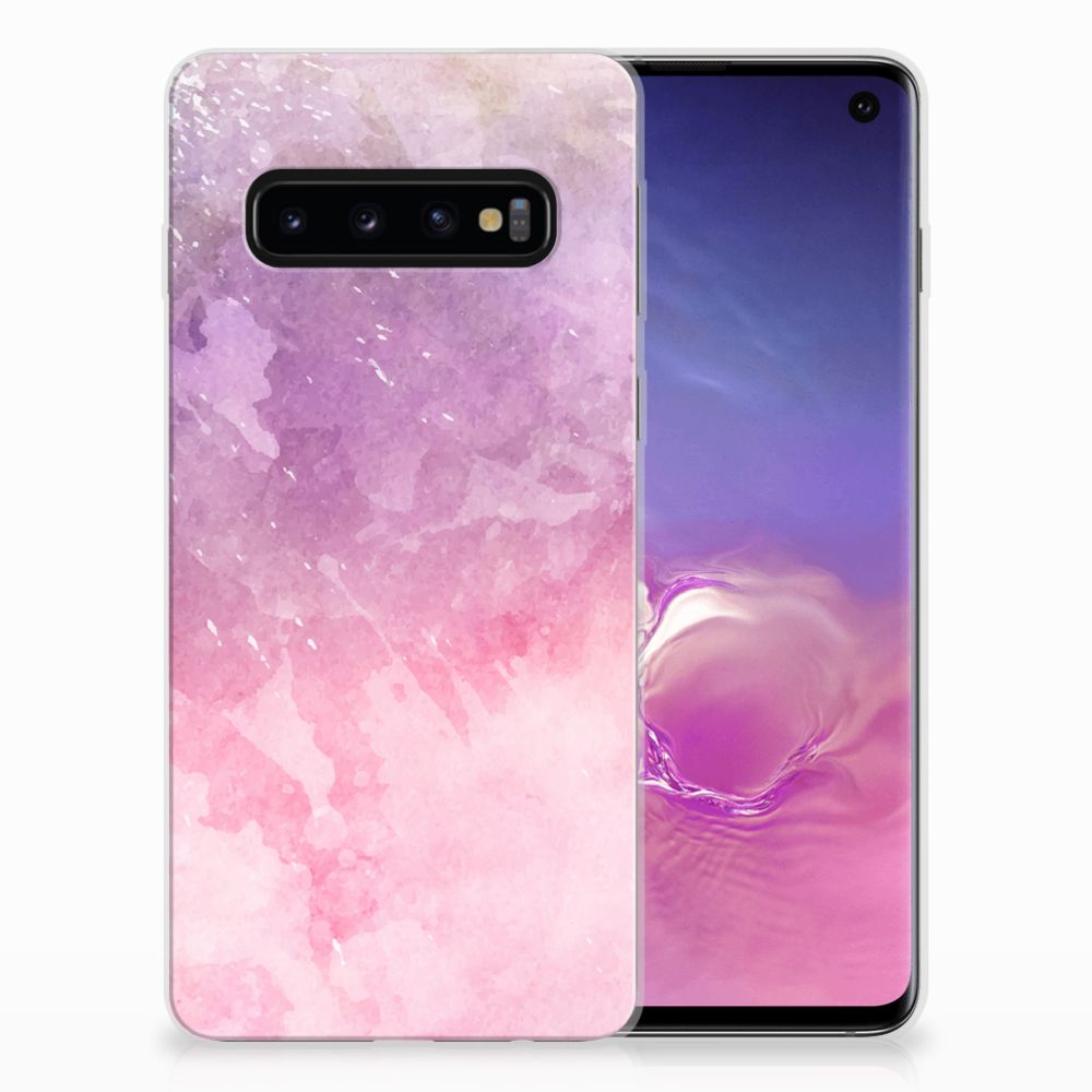 Hoesje maken Samsung Galaxy S10 Pink Purple Paint