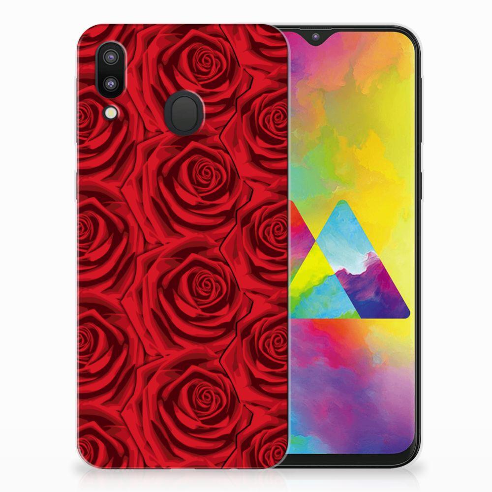 Samsung Galaxy M20 Uniek TPU Hoesje Red Roses