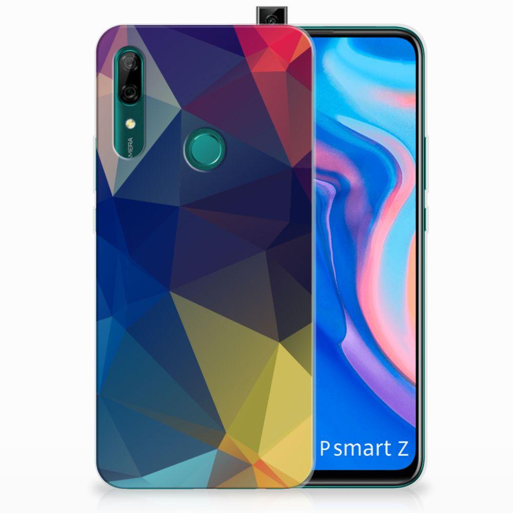 Huawei P Smart Z TPU Hoesje Polygon Dark