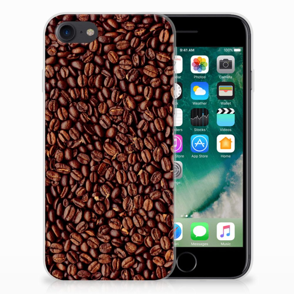 Apple iPhone 7 | 8 Siliconen Case Koffiebonen