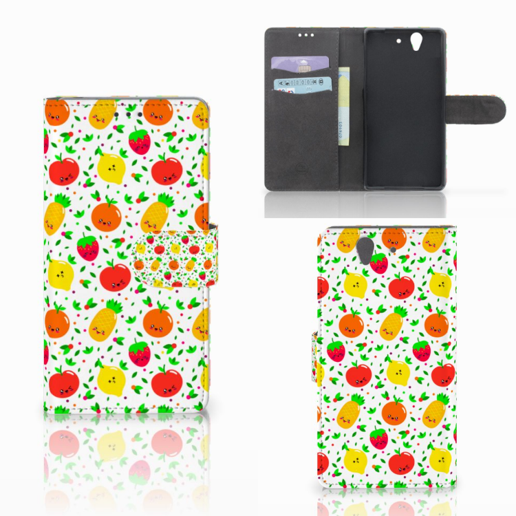 Sony Xperia Z Book Cover Fruits