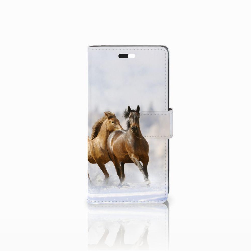 Huawei Y635 Uniek Boekhoesje Paarden
