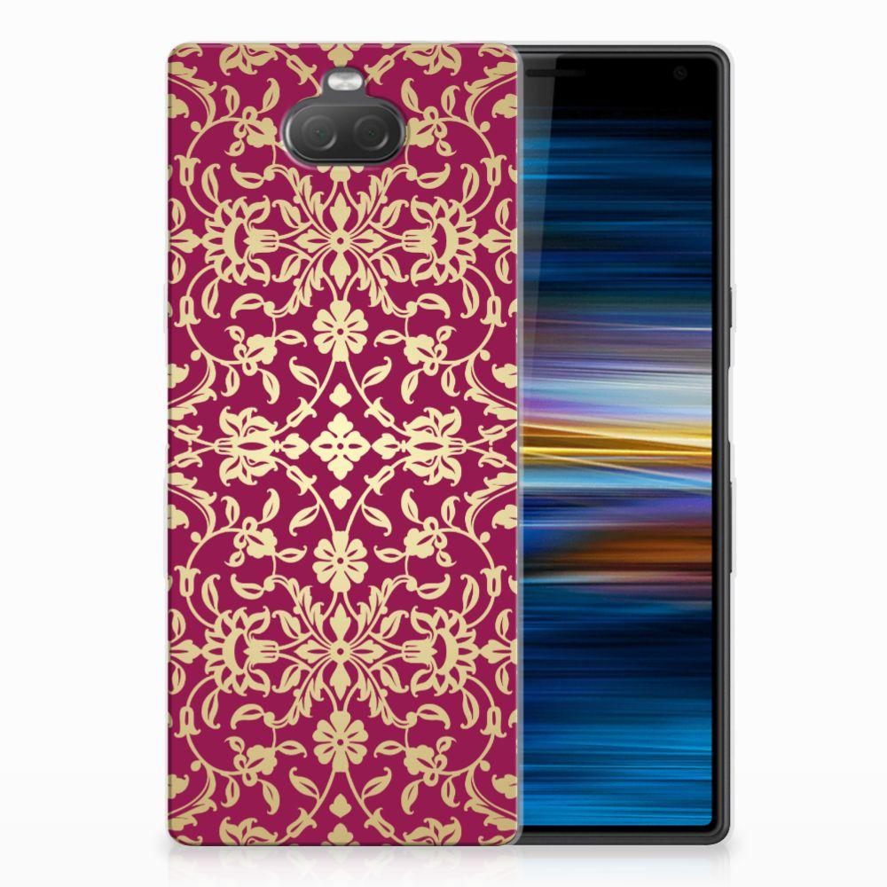 Sony Xperia 10 TPU Hoesje Design Barok Pink