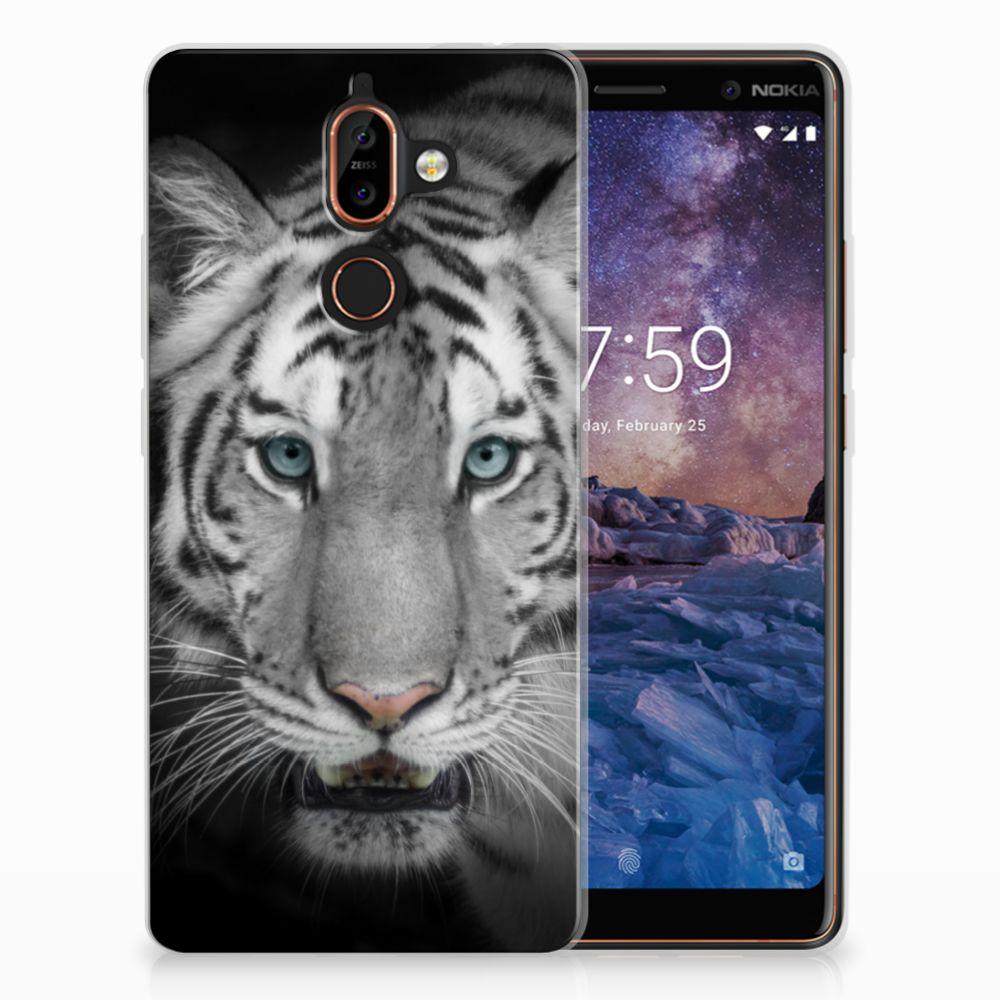 Nokia 7 Plus Uniek TPU Hoesje Tijger