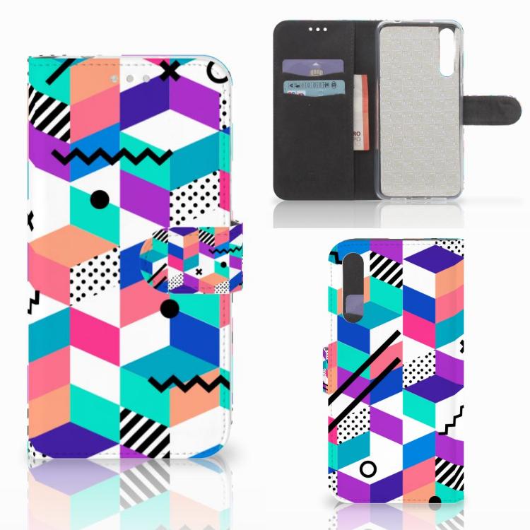 Huawei P20 Pro Bookcase Blokken Kleurrijk