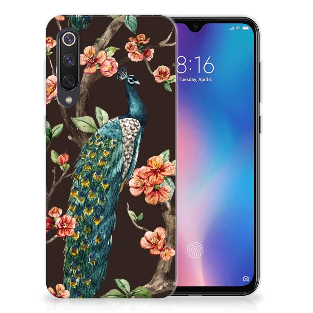 Xiaomi Mi 9 SE TPU Hoesje Pauw met Bloemen