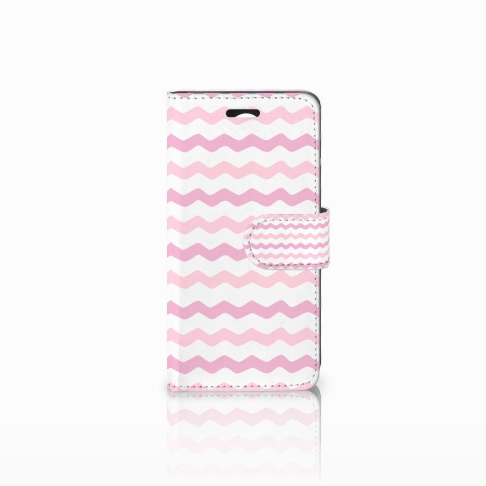 Huawei Y3 2 | Y3 II Uniek Boekhoesje Waves Roze
