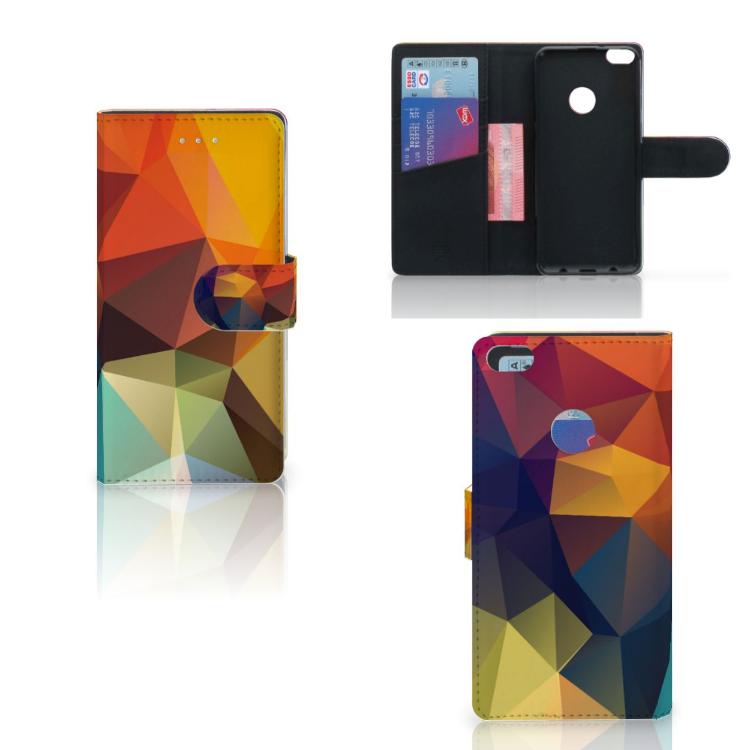 Huawei P8 Lite 2017 Bookcase Polygon Color