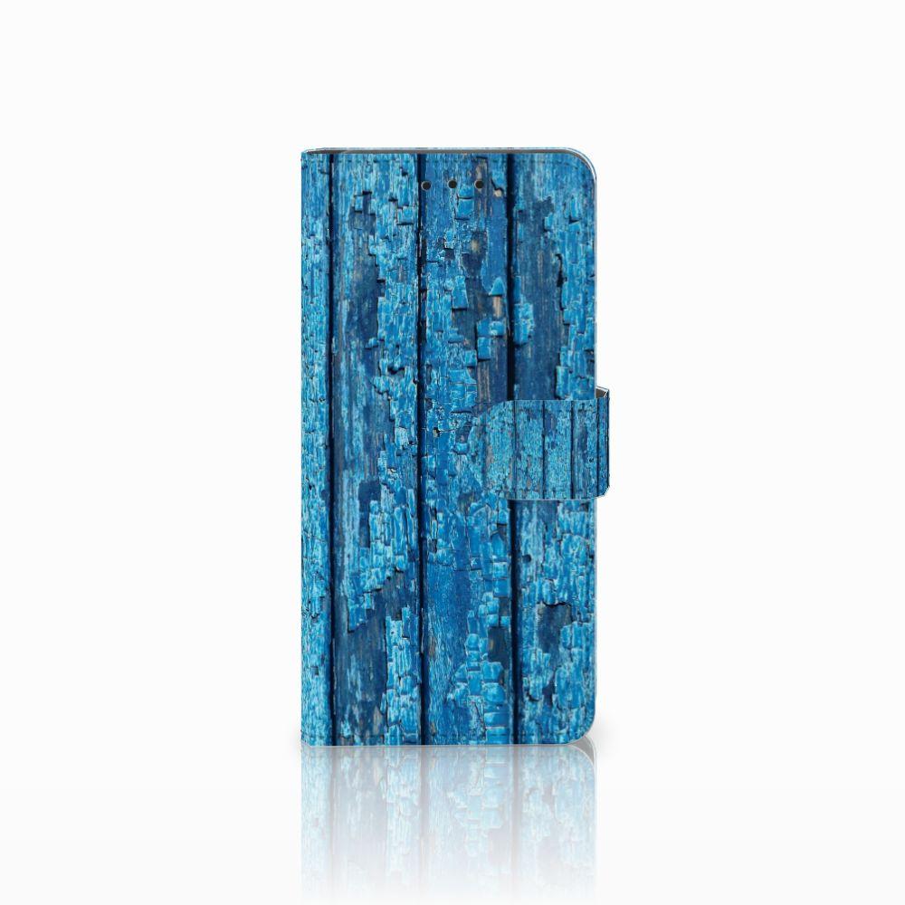 Huawei Mate 20 Pro Uniek Boekhoesje Wood Blue