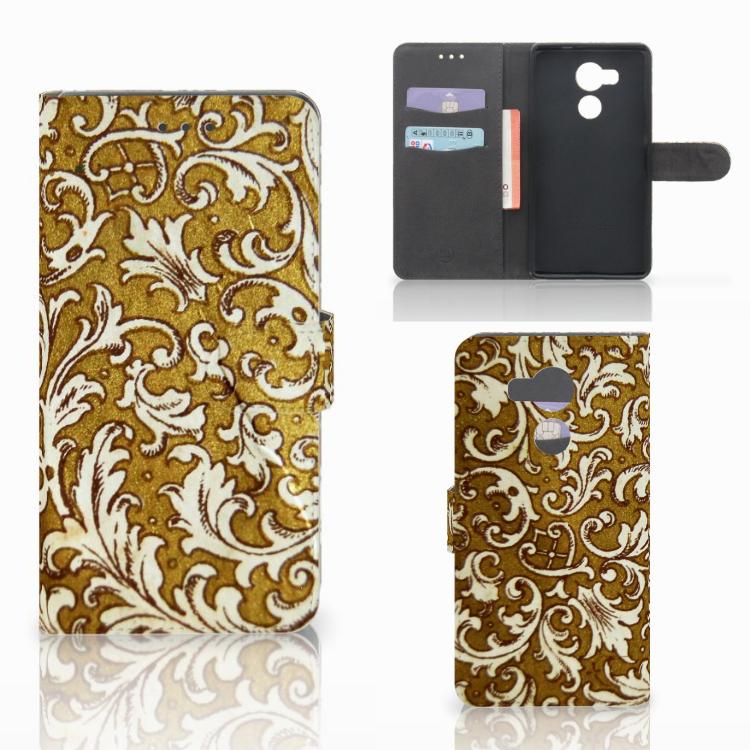 Wallet Case Huawei Mate 8 Barok Goud